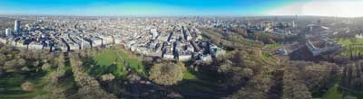 360° AERIAL PANORAMA OF BUCKINGHAM PALACE