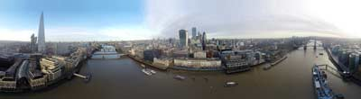 360° AERIAL PANORAMA OF HMS BELFAST LONDON